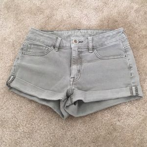 American Eagle Olive Green High-Waisted Shorts